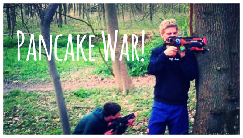 Lasershooting: Pancake War!