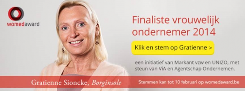 Stem Gratienne naar de Womed Award 2015!