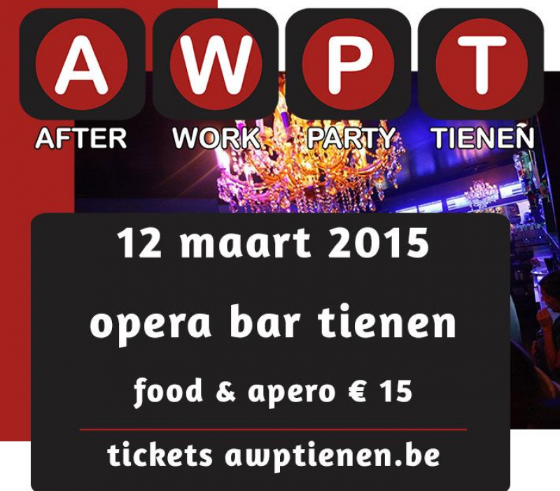 After Work Party Tienen, relaxen en netwerken op 12 maart