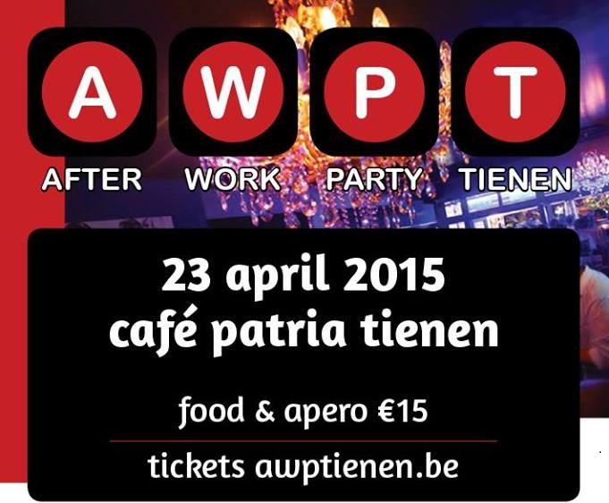 Niet te missen, de After Work Party van april!