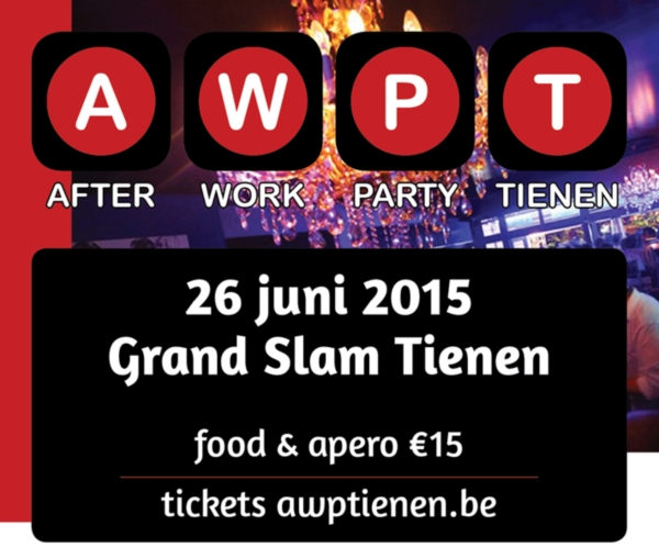 Vrijdag, allen naar de After Work Party in Tienen