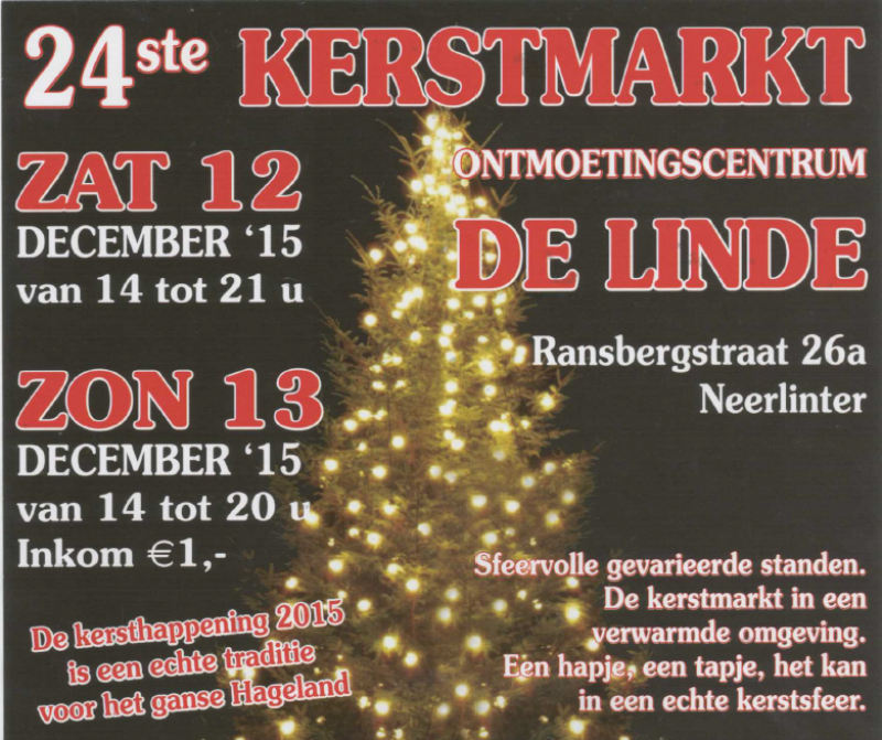 KERSTMARKT LINTER : 12 & 13 december